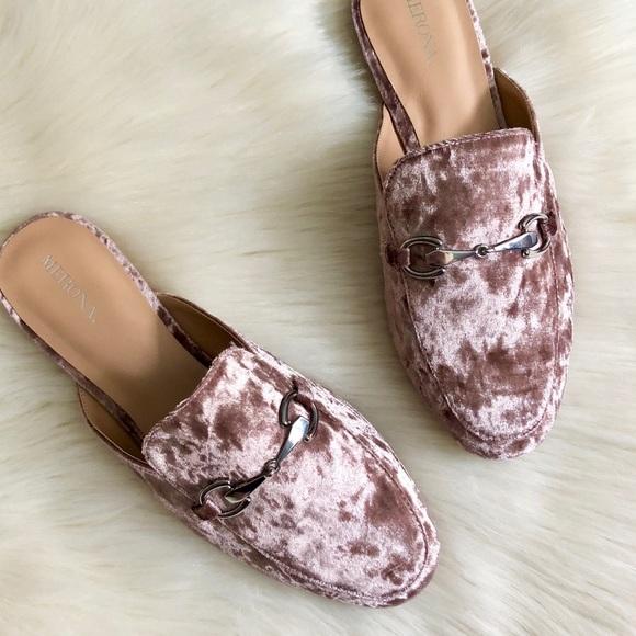 d8953c842b5c7 New Merona Pink Velvet Loafer Mules. M_5afb7799b7f72b394192efc0